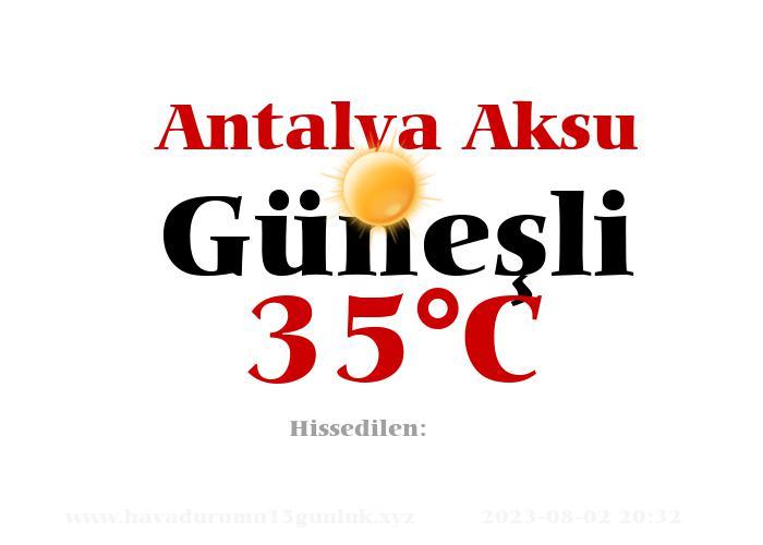 Hava Durumu Antalya Aksu