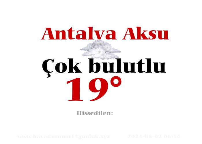 Antalya Aksu Hava Durumu