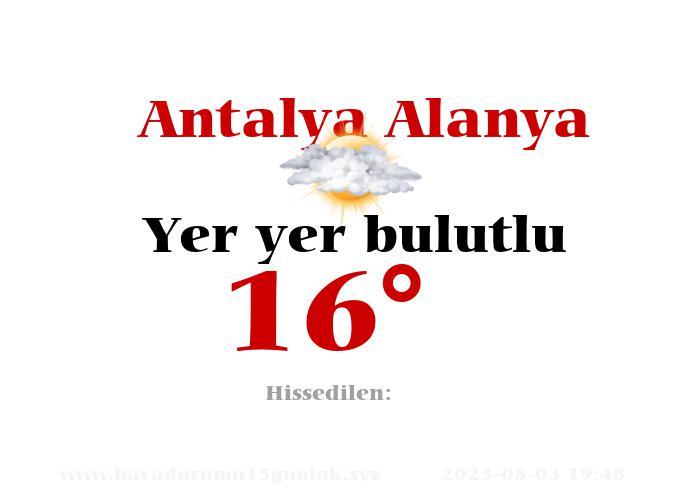Antalya Alanya Hava Durumu