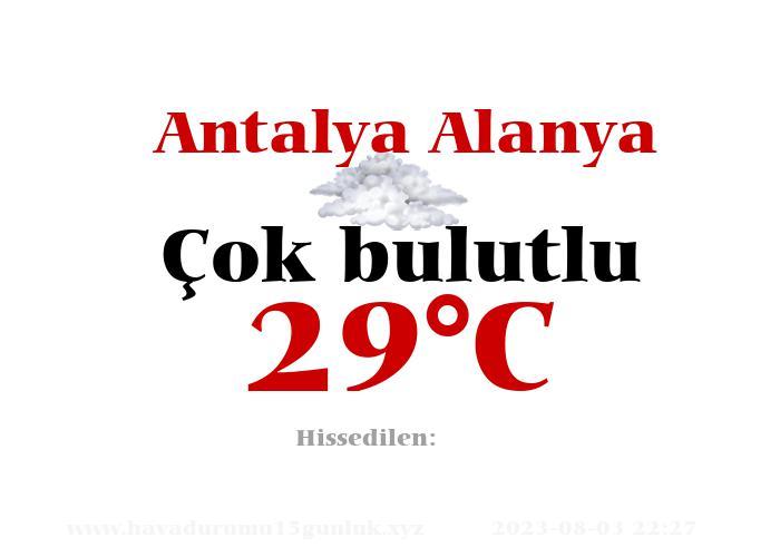 Hava Durumu Antalya Alanya
