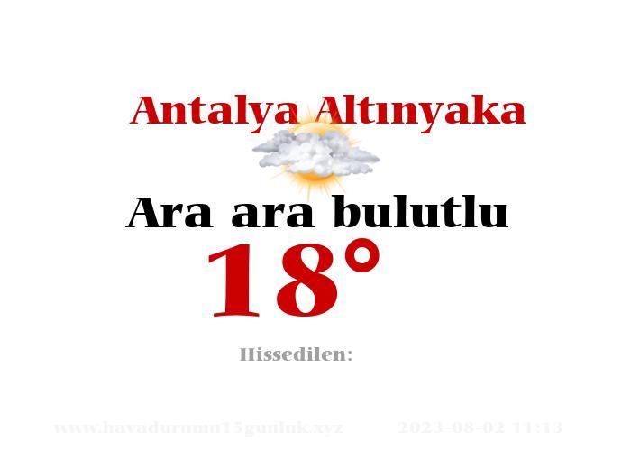 antalya-altinyaka hava durumu