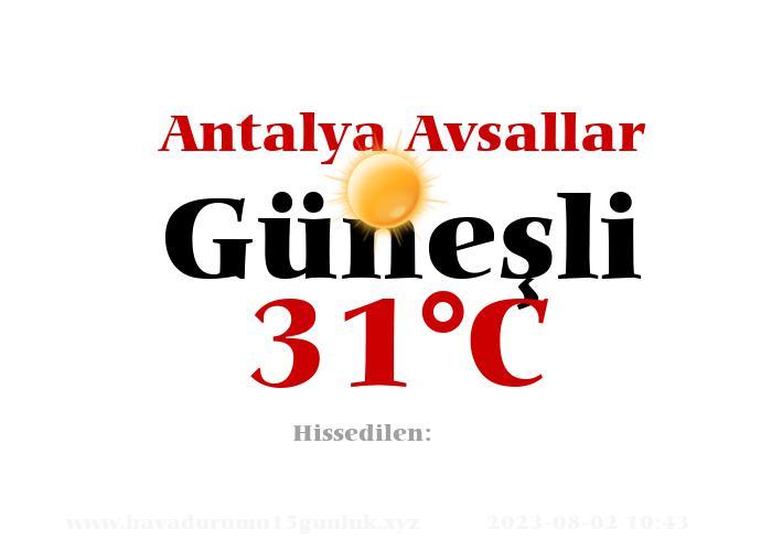 Hava Durumu Antalya Avsallar