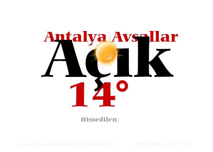 Antalya Avsallar Hava Durumu