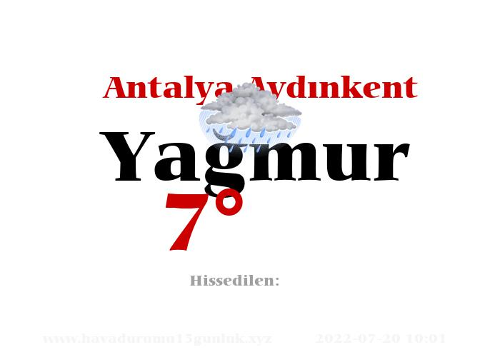 Antalya Aydınkent Hava Durumu