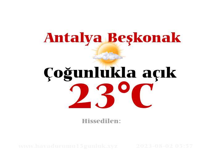 Hava Durumu Antalya Beşkonak