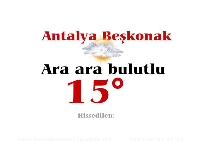 antalya-beskonak hava durumu