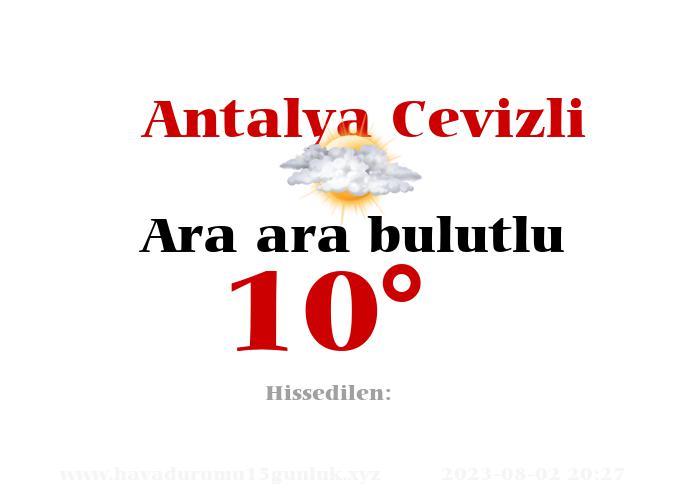 antalya-cevizli hava durumu