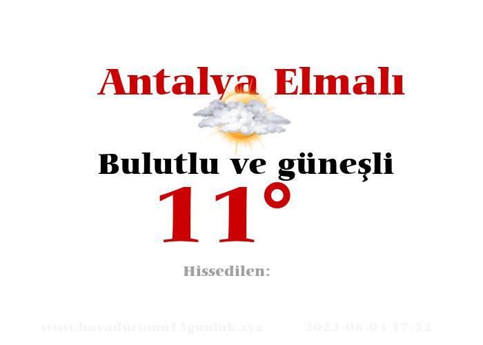 antalya-elmali hava durumu