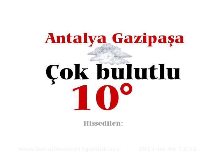 Antalya Gazipaşa Hava Durumu
