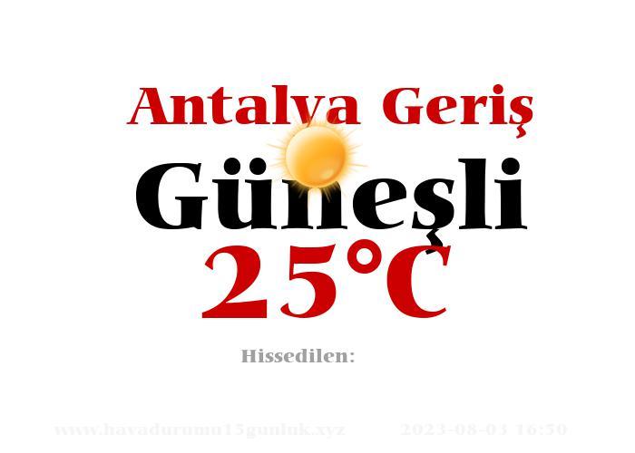 Hava Durumu Antalya Geriş