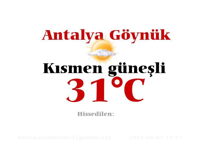Hava Durumu Antalya Göynük