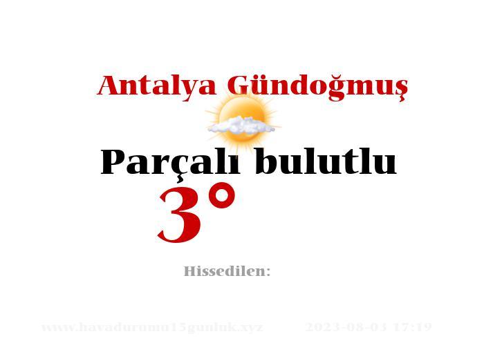 antalya-gundogmus hava durumu