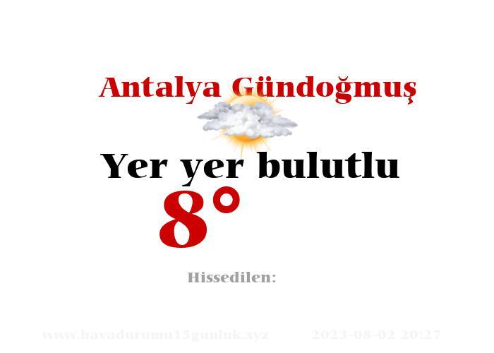 Antalya Gündoğmuş Hava Durumu
