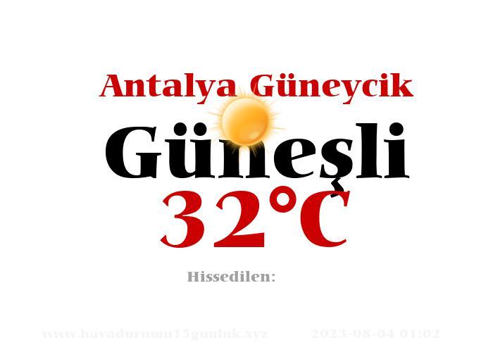 Hava Durumu Antalya Güneycik