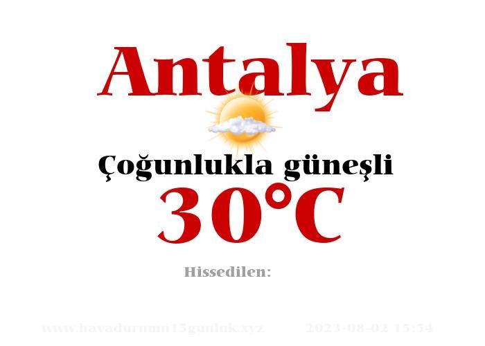 Hava Durumu Antalya