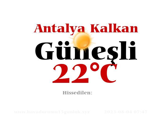 Hava Durumu Antalya Kalkan