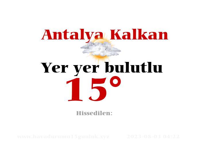 Antalya Kalkan Hava Durumu
