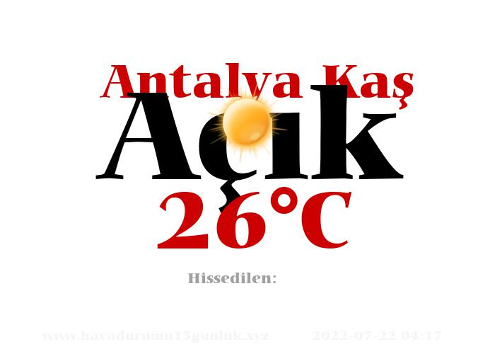 Hava Durumu Antalya Kaş