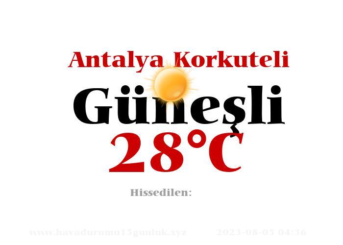 Hava Durumu Antalya Korkuteli