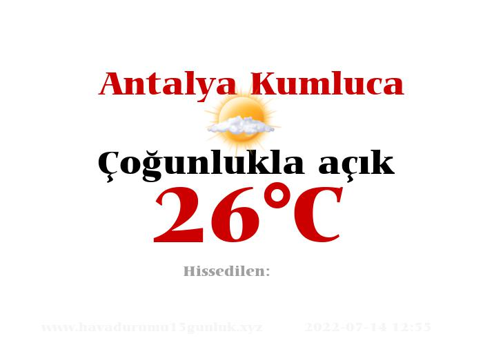 Hava Durumu Antalya Kumluca