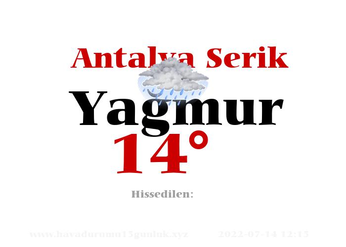 Antalya Serik Hava Durumu