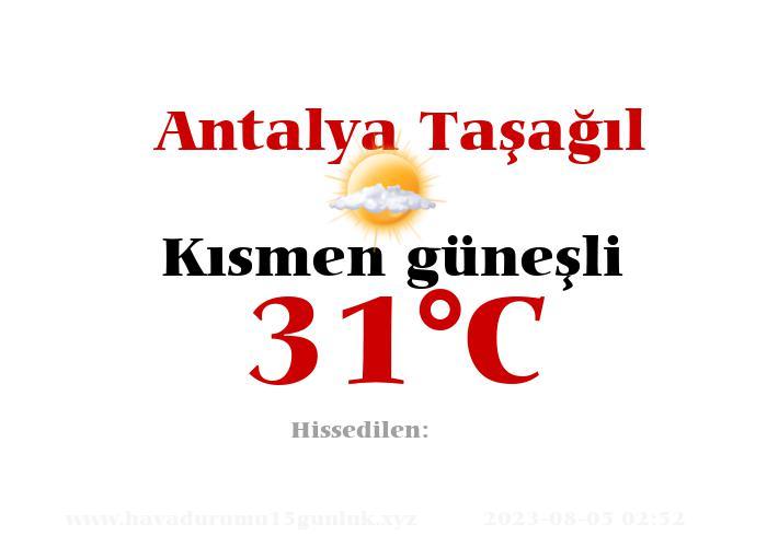 Hava Durumu Antalya Taşağıl