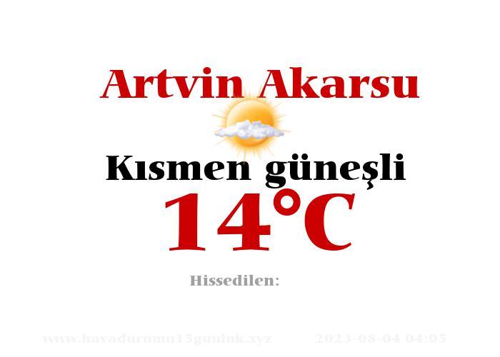 Hava Durumu Artvin Akarsu