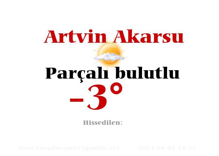 Artvin Akarsu Hava Durumu