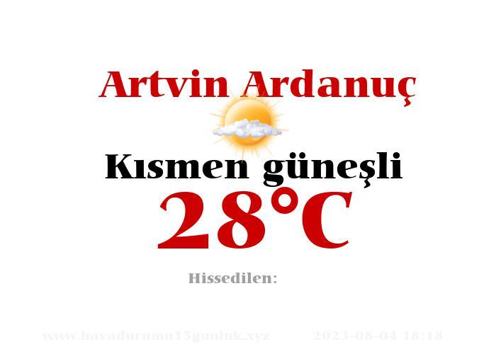 Hava Durumu Artvin Ardanuç