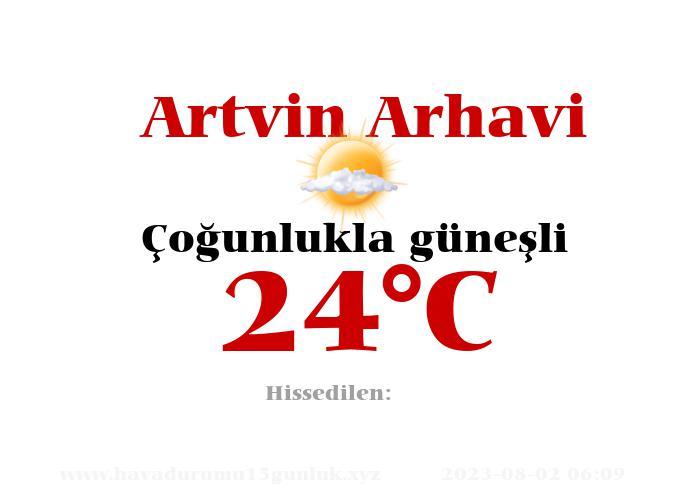 Hava Durumu Artvin Arhavi