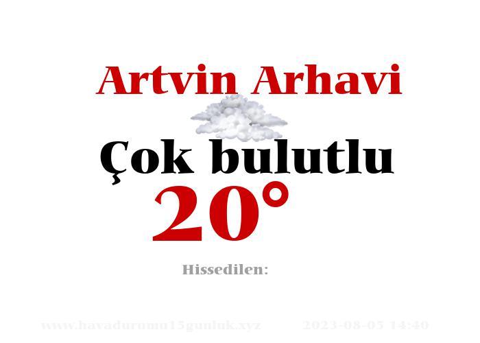 Artvin Arhavi Hava Durumu