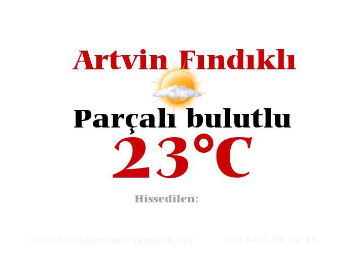 Hava Durumu Artvin Fındıklı