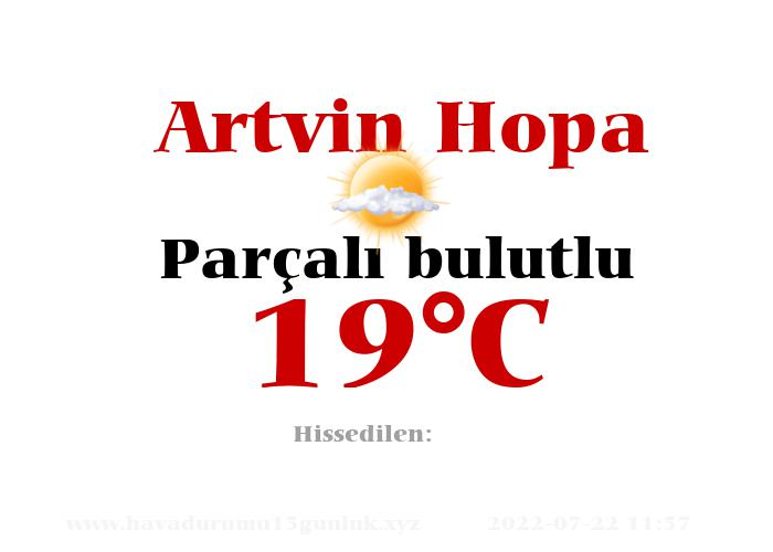Hava Durumu Artvin Hopa