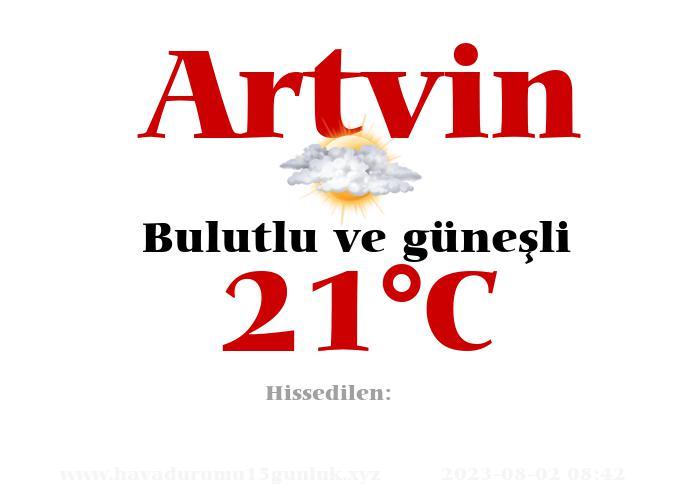 Hava Durumu Artvin