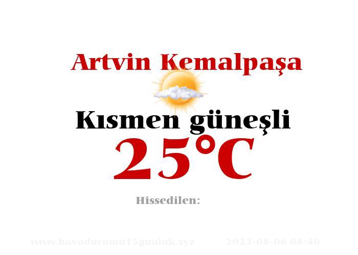 Hava Durumu Artvin Kemalpaşa