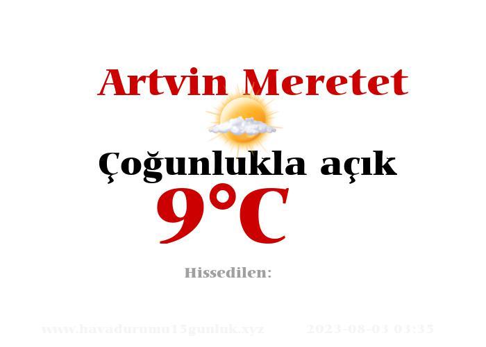 Hava Durumu Artvin Meretet