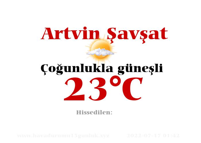 Hava Durumu Artvin Şavşat