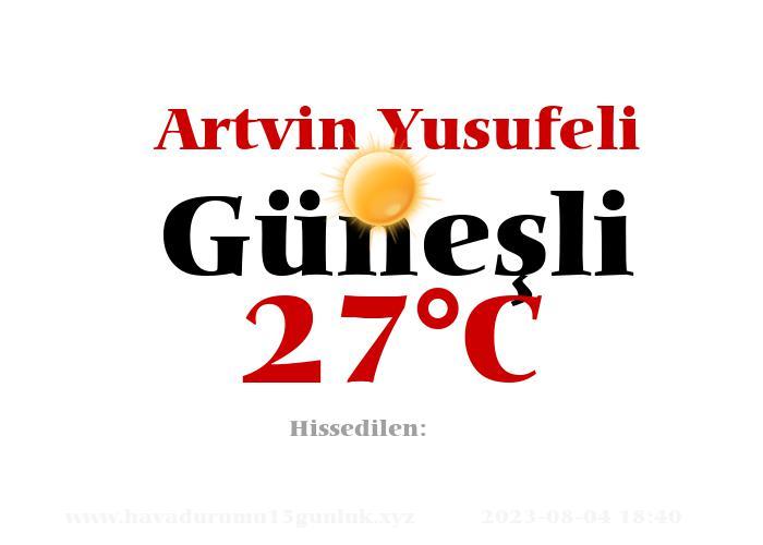 Hava Durumu Artvin Yusufeli