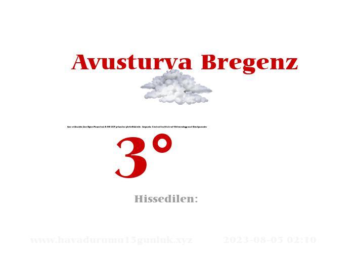 avusturya-bregenz hava durumu