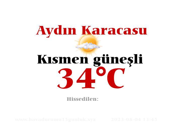 Hava Durumu Aydın Karacasu
