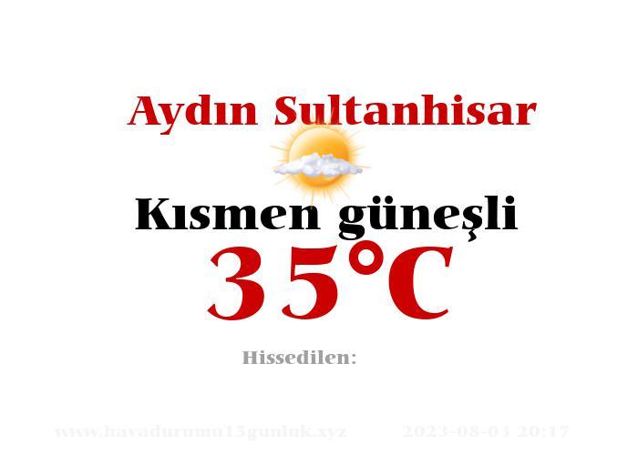 Hava Durumu Aydın Sultanhisar