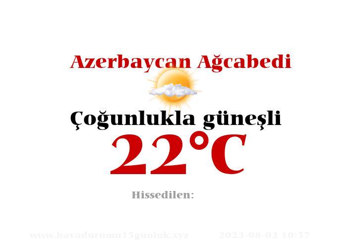 Hava Durumu Azerbaycan Ağcabedi