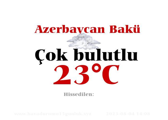 Hava Durumu Azerbaycan Bakü