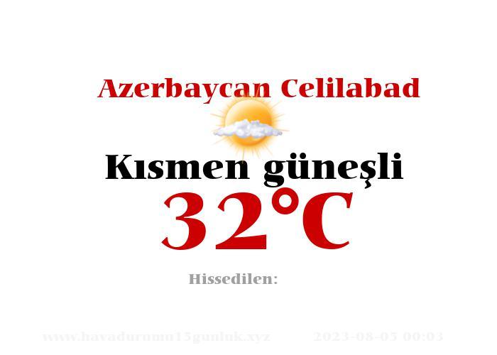 Hava Durumu Azerbaycan Celilabad