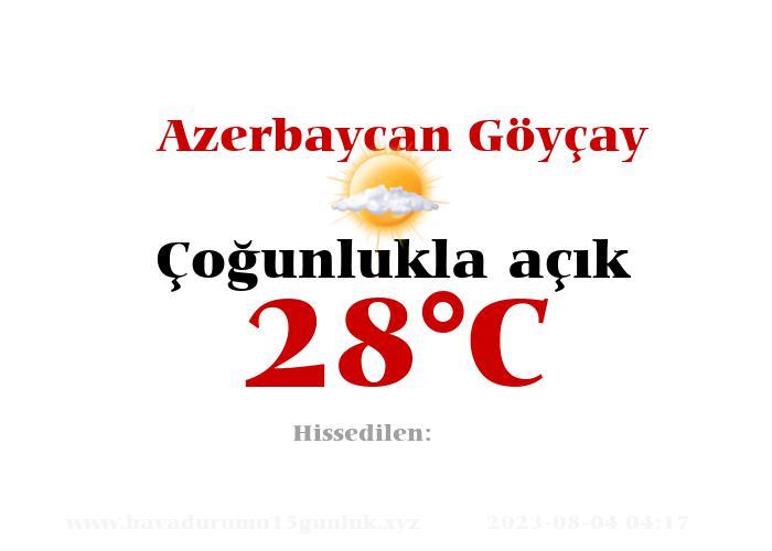 Hava Durumu Azerbaycan Göyçay