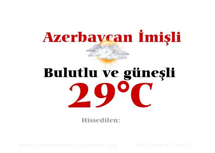 Hava Durumu Azerbaycan İmişli