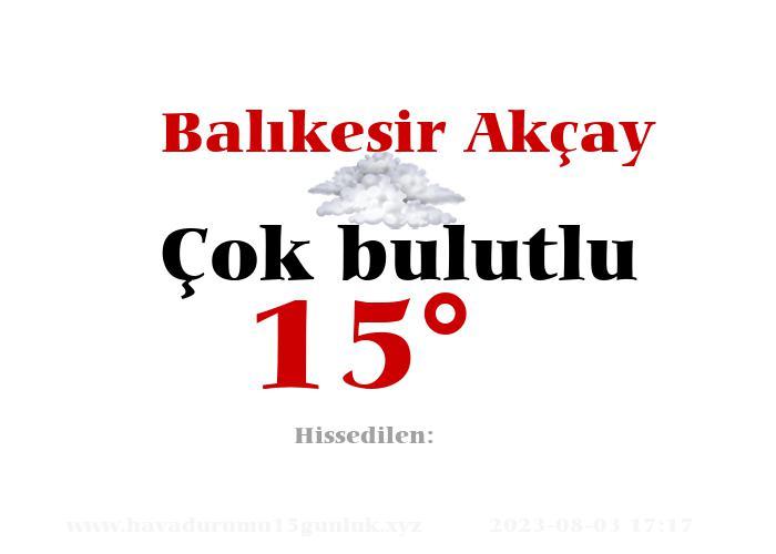 balikesir-akcay hava durumu