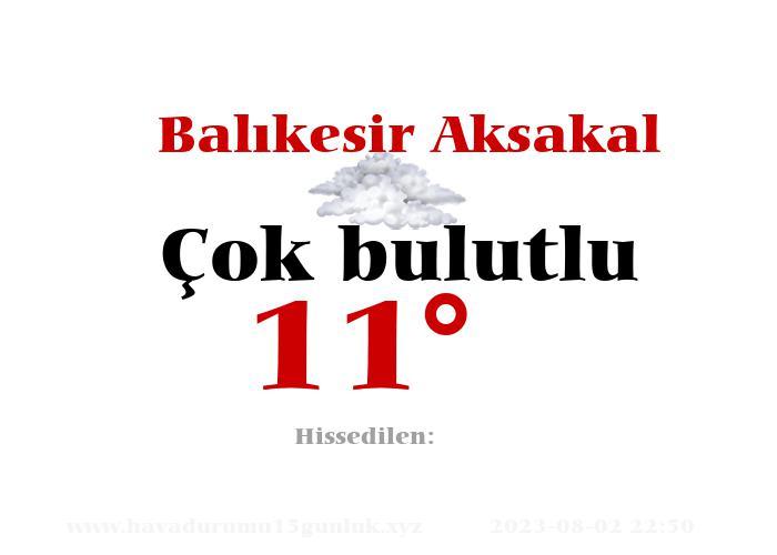 balikesir-aksakal hava durumu