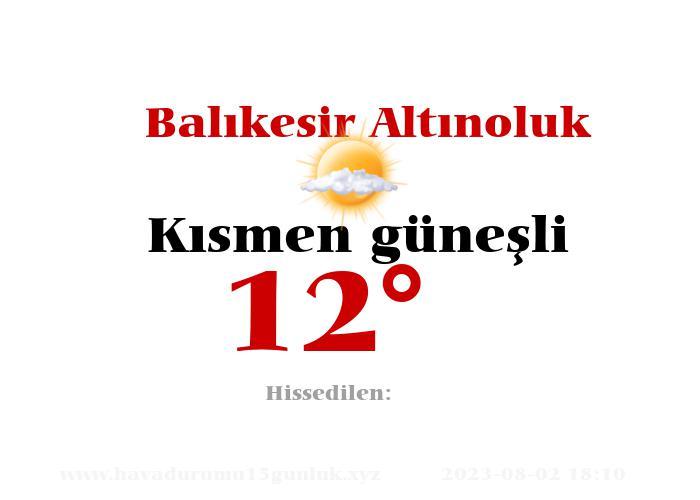 balikesir-altinoluk hava durumu