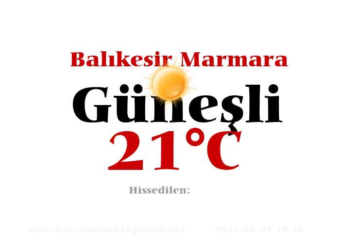 Hava Durumu Balıkesir Marmara